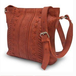 Anabaglish June Leather Crossbody Bag Rust